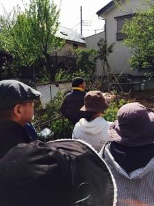 野瀬さんによる梅林、直売所ツアー