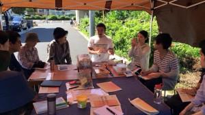 楽農くらぶ 藤野電力の小田嶋さんを迎えて、まずは電気の基本の話からスタート