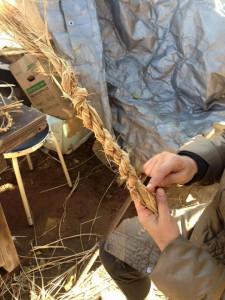 楽農くらぶ しめ縄の完成