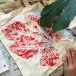 自然工房めばえ|バッグに葉脈が美しくプリントされました