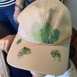 自然工房めばえ|帽子にも押し葉染め
