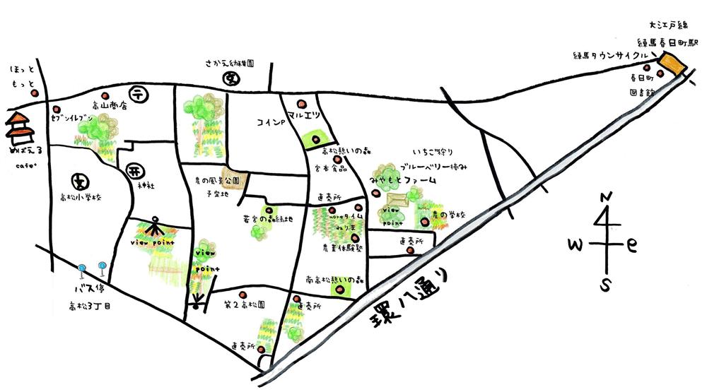 練馬春日町からの地図
