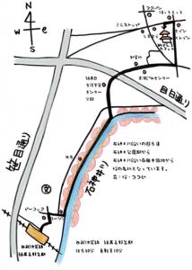 練馬高野台からの地図